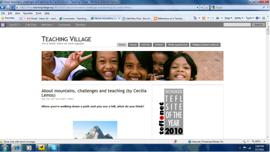My guest post at Teaching Village