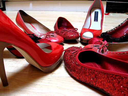 I have a thing for red shoes...